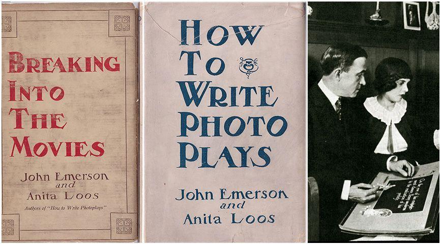 Estudiar guion, el arte que va más allá de escribir historias - Anita Loos y John Emerson