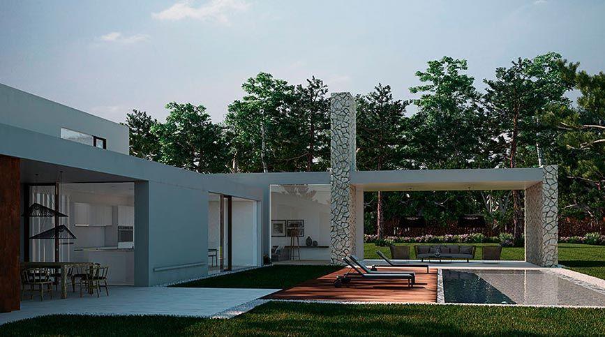 Realidad virtual para visualización arquitectónica - Casa del bosque