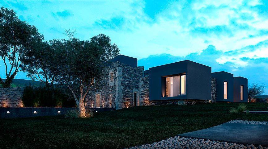 Realidad virtual para visualización arquitectónica - Vigario house (Exterior)