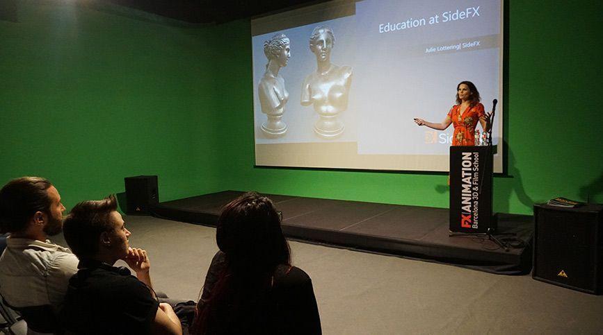 SideFX visita FX ANIMATION como escuela certificada en Houdini - Julie Lottering