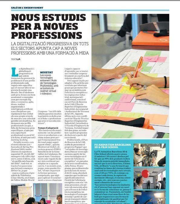 Nuevos estudios para nuevas profesiones