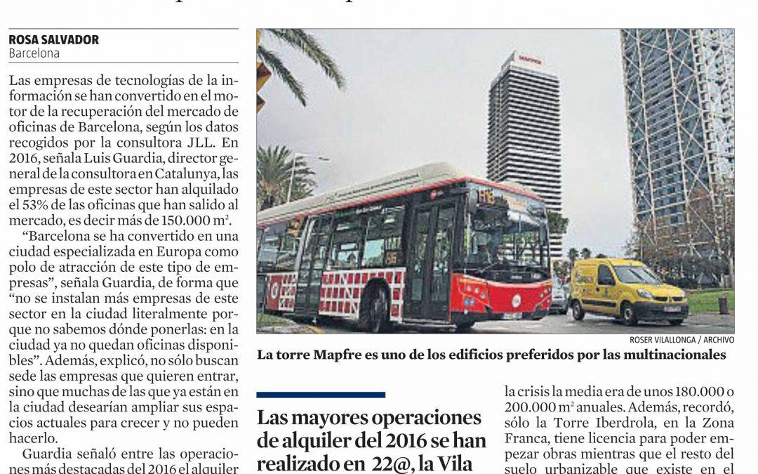 Las empresas tecnológicas hacen Barcelona atractiva internacionalmente