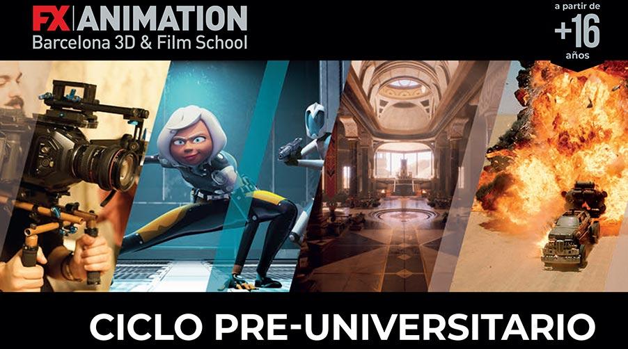 Imagen destacada del post sobre cómo es un ciclo pre-universitario en Cine y Animación